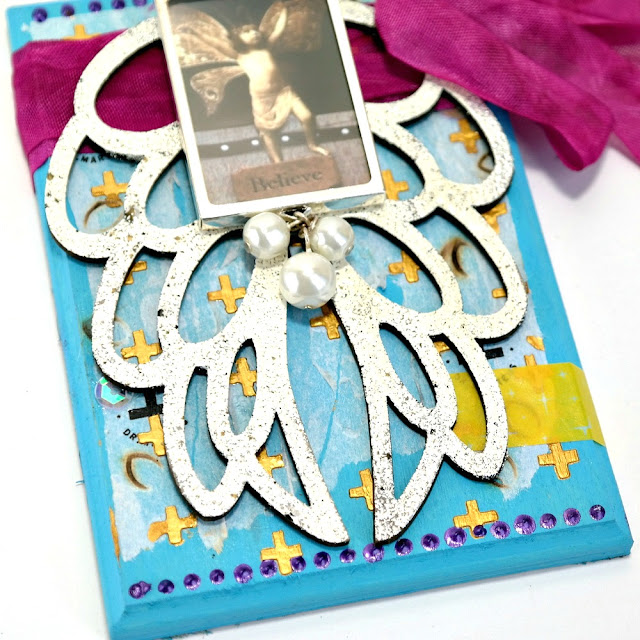 Believe Wings Plaque by Dana Tatar for Tando Creative