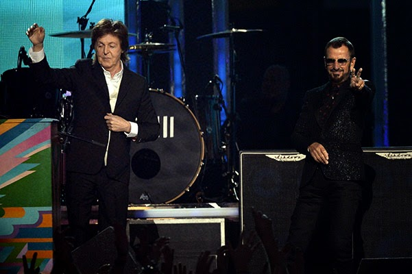 Speech by Paul McCartney and Ringo Starr Grammy-2014