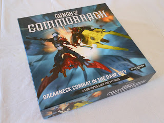 The box for the skirmish game of gang warfare Gangs of Commorragh