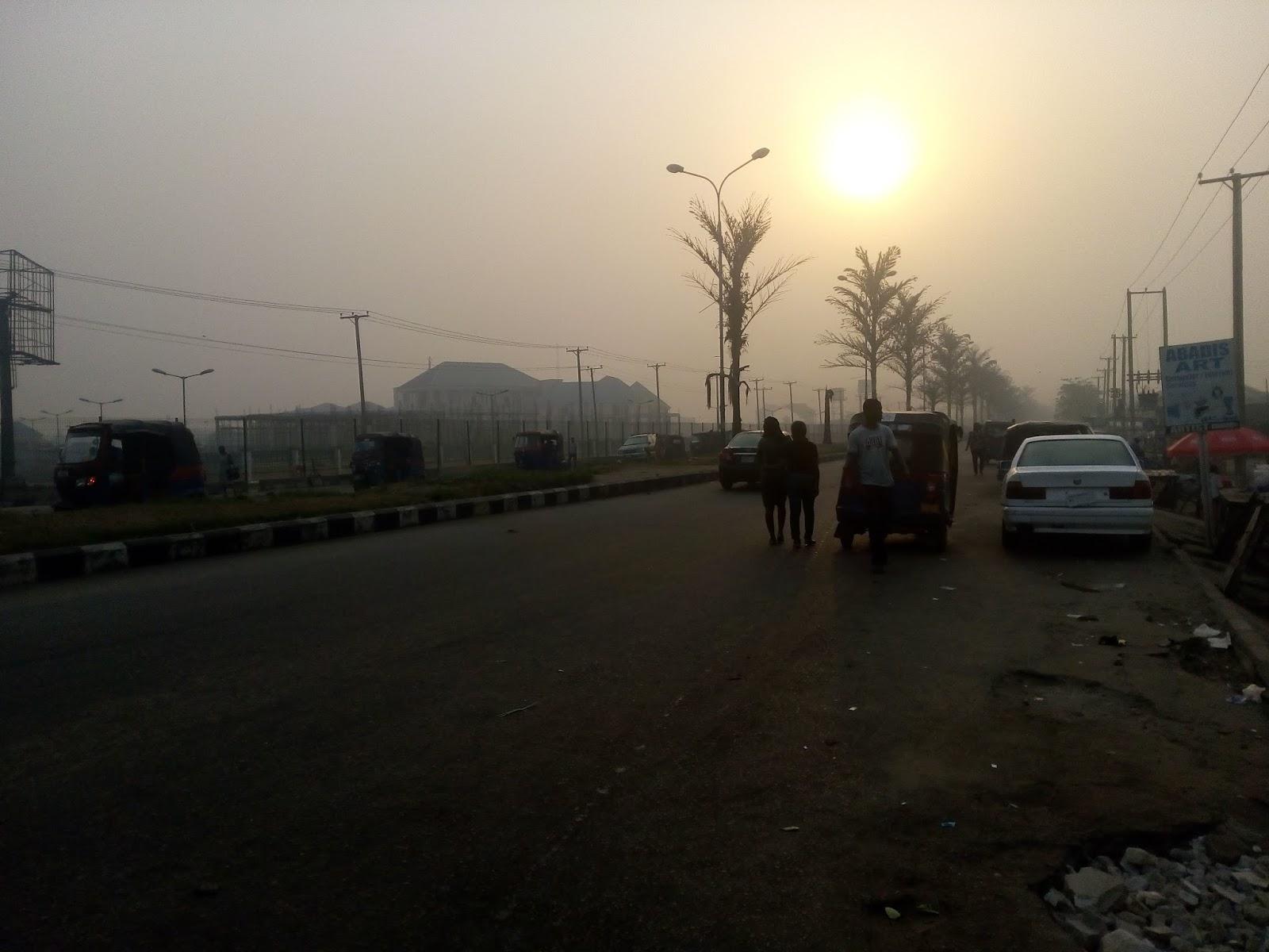 Early morning sunrise in Yenagoa