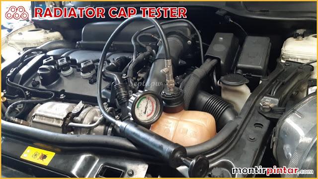 cara menggunakan radiator cap tester