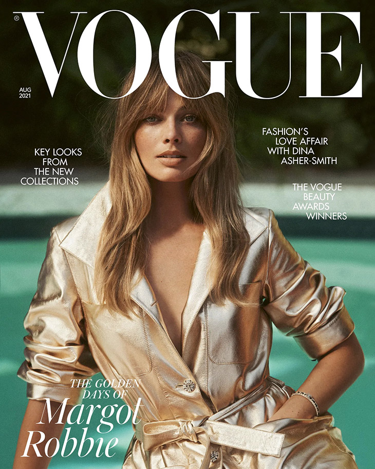 Margot Robbie is the Cover Star of British Vogue August 2021 Issue