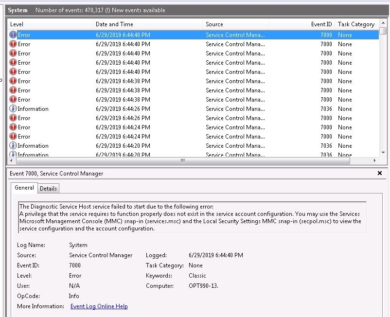 Homoslice - Just Like a Boss: Fix: The Diagnostic Service Host