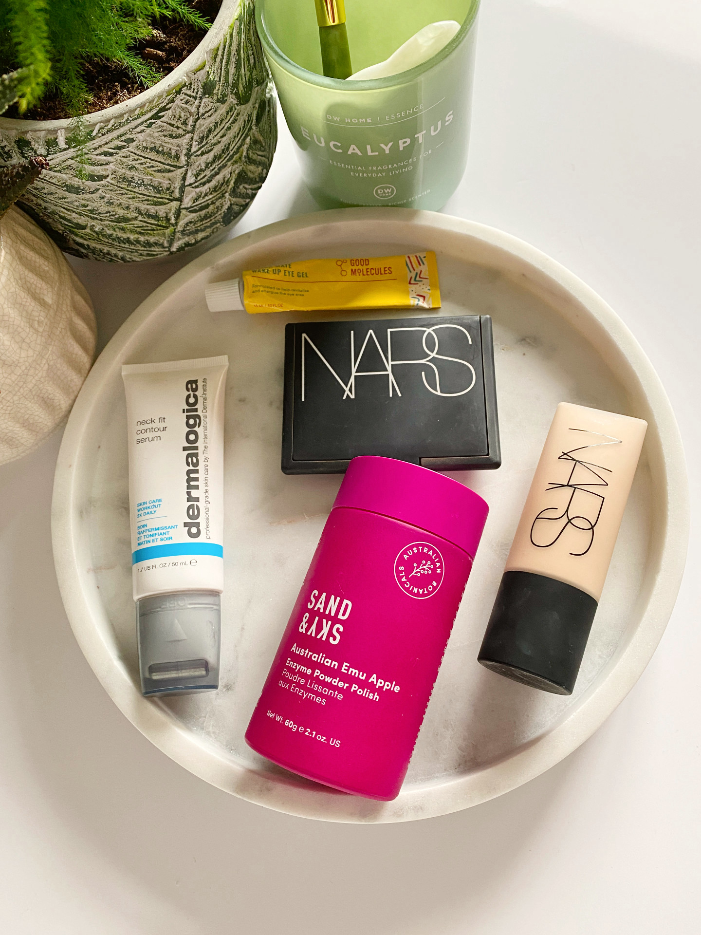 beauty favourites dermalogica nars good molecules sand&sky