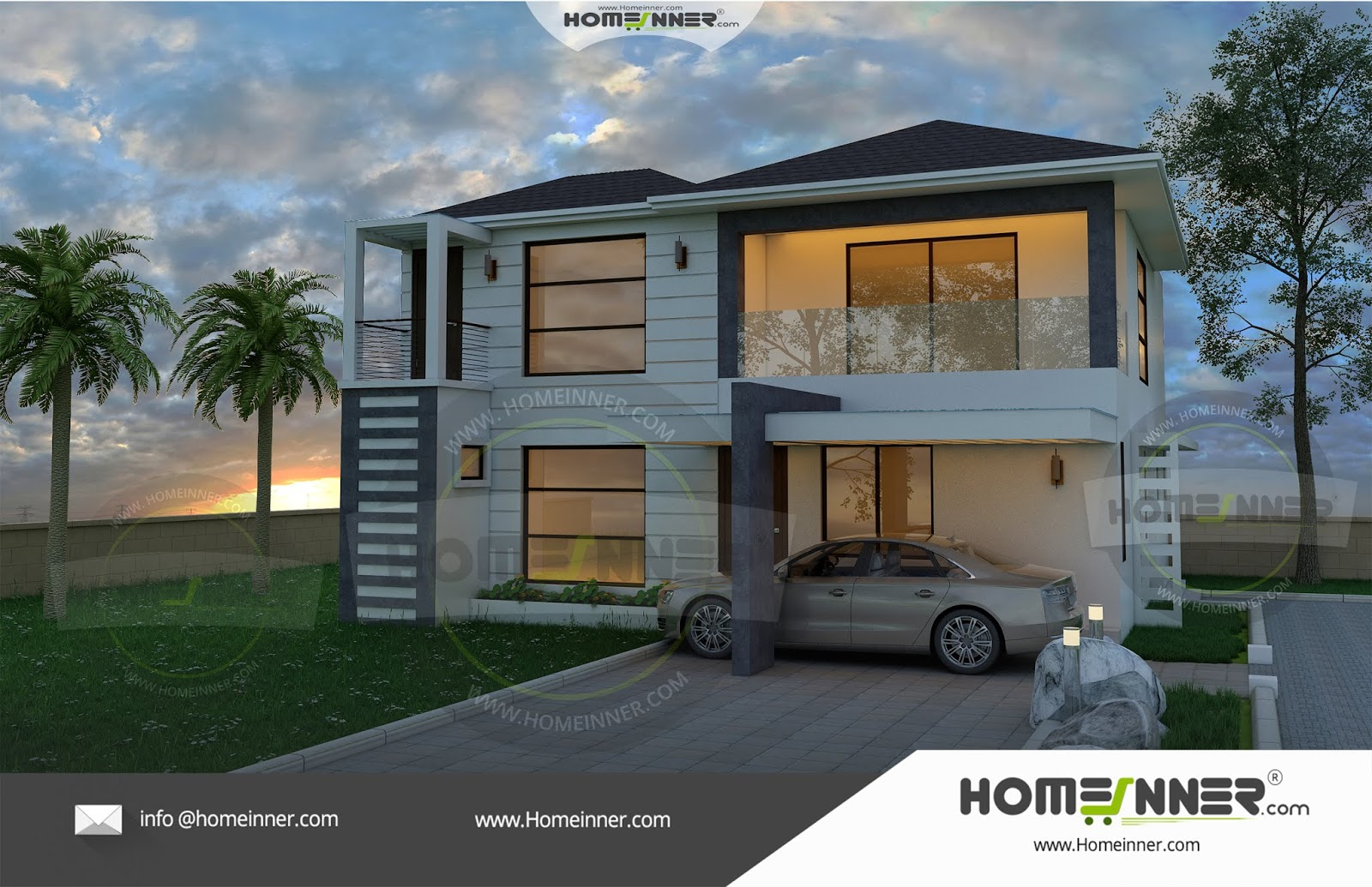 HIND-0176 Architectural house plan villa floor plan package