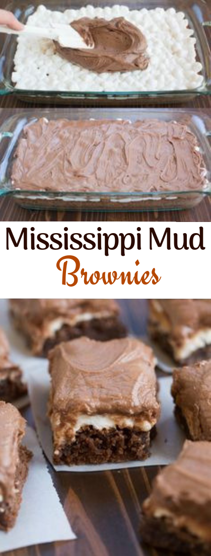 Mississippi Mud Brownies #desserts #choco