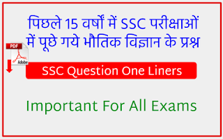 Physics Questions Asked In SSC Exams in Lsat 15 Years