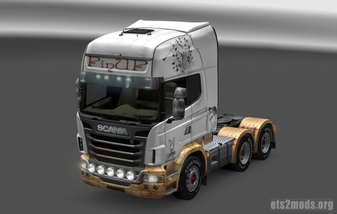 Scania Vintage Stlyle Pin UP skin