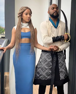 Banky W, Adesua, Ebuka, Bovi, Linda Ejiofor and hubby, Waje, others dress in their favorite #GameofThrones characters to IK Osakioduwa's 40th birthday party