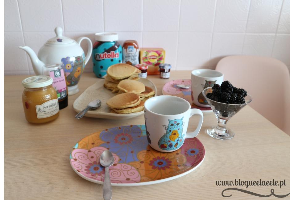 hoje celebramos + pequeno-almoço + panquecas tradicionais + receita + 5º aniversário de namoro + pedro e telma + blogue português de casal + ela e ele + ele e ela