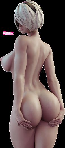 NieR Automata - 2B Render 35 [StevenCarson]