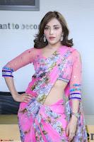 Angela Krislinzki Rogue Movie Fame Telugu Actress in Saree Backless Choli 075.JPG