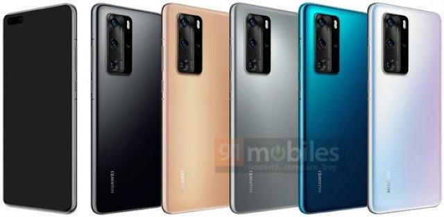 صور مسربة رسمية لمجموعة هواتف Huawei P40