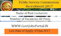 Public Service Commission Recruitment 2017 for Lecturers Posts