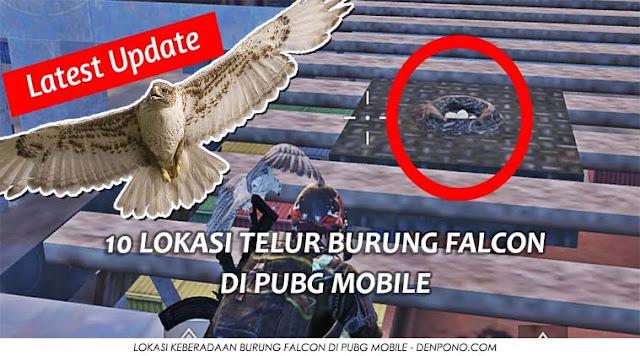 Lokasi Telur Burung Falcon di PUBG Mobile Update Terbaru : Inilah 10 Lokasi Telur Burung Falcon di PUBG Mobile