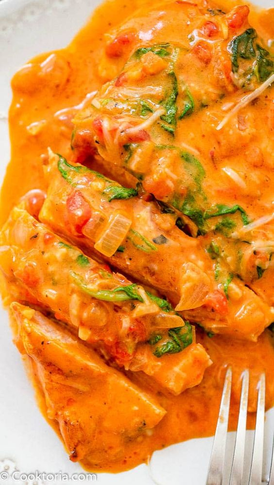 Roasted Pepper Sauce Chicken