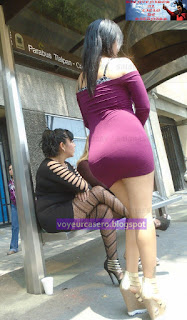 hermosa prostituta culona pillada calle