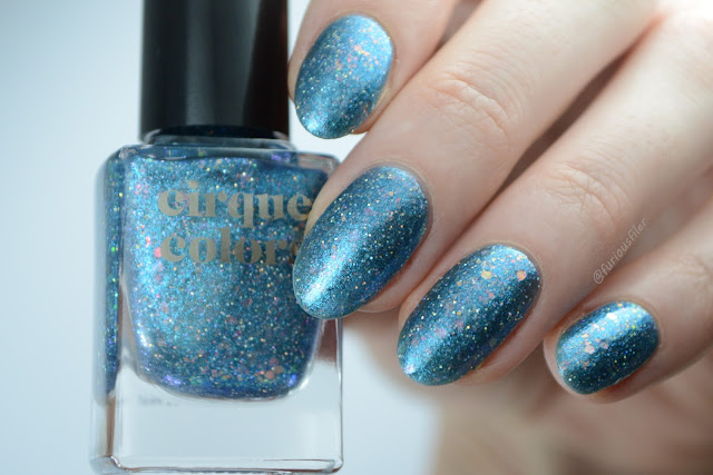 cirque colors star child swatch turquoise holographic opal flakies