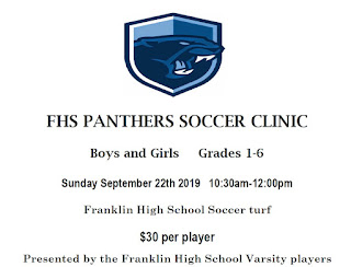 FYSA - FHS clinic for youth soccer players - Sep 22