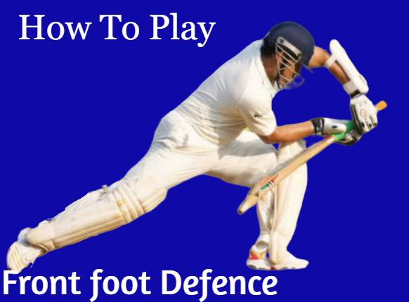 How to play defence cricke shots in hindi | Front foot Defence in Hindi