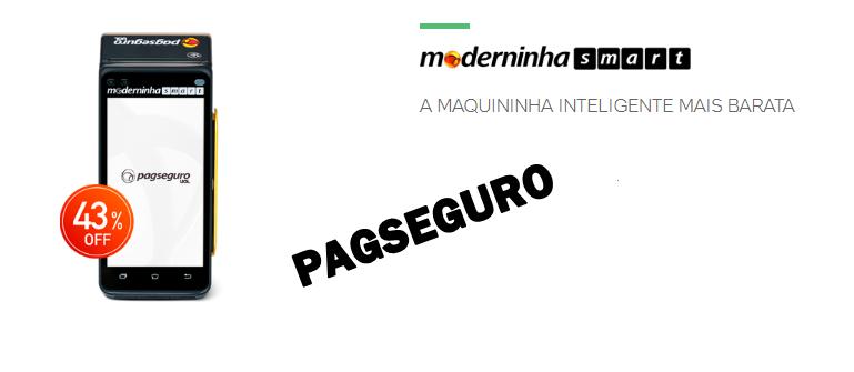 MÁQUINA DE CARTÃO MODERNINA PAGSEGURO