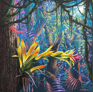 cuadros-con-frescos-panoramas-selváticos vistas-selvaticas-pintadas
