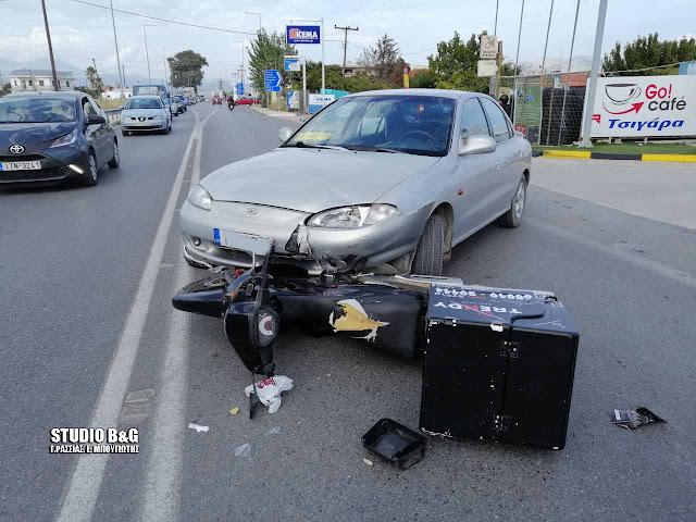 Τροχαίο ατύχημα με τραυματία delivery στο Άργος