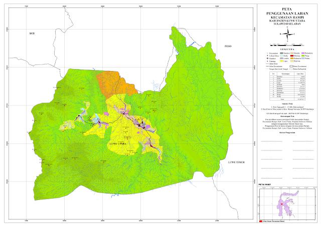 peta rupa bumi kabupaten luwu utara