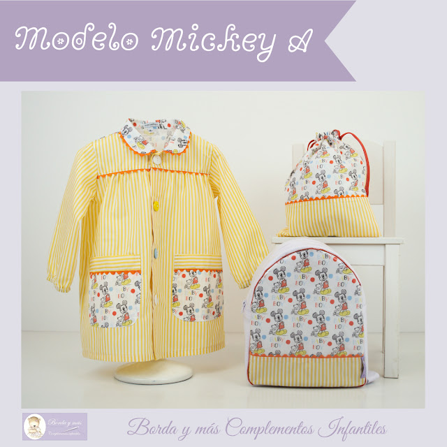 mochila baby guarderia cole mickey amarillo
