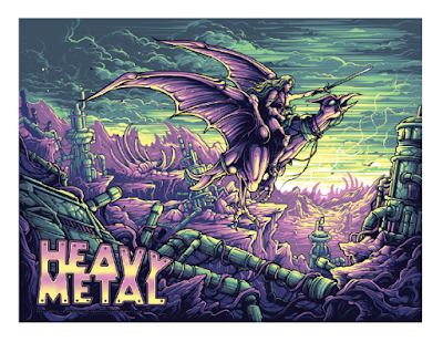 San Diego Comic-Con 2019 Exclusive Heavy Metal Screen Print by Dan Mumford x Incendium