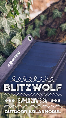 Gear of the Week #GOTW KW 09 | Blitzwolf BW-L3 28W 3.8A Outdoor Solarmodul | Solarladegerät | Mobile-Energie