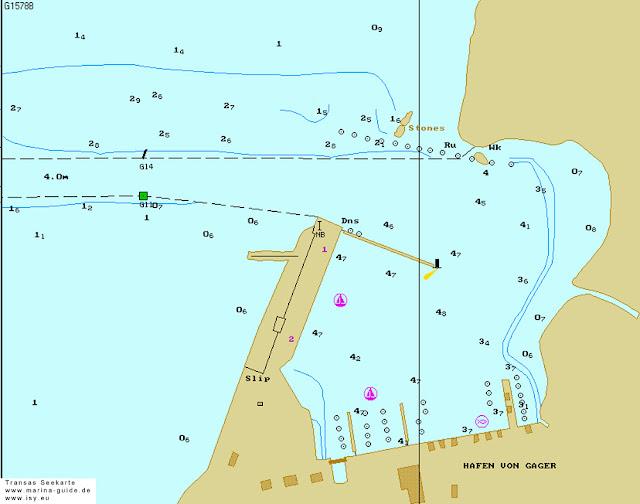 Gager - podejście do portu