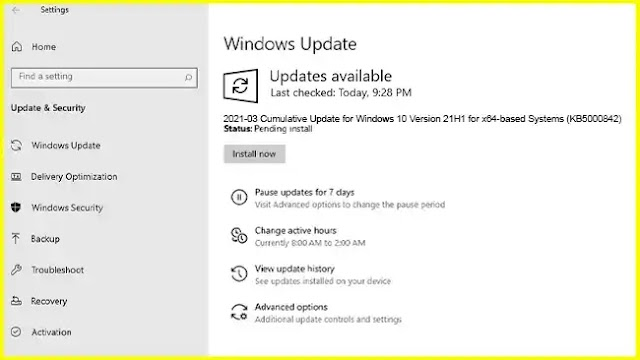 KB5000842 [Manual Download] Windows 10 21H1, 20H2, 2004 - Edge Legacy will be removed [Updated 30-03-2021]