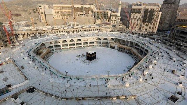 Lakukan Sterilisasi Virus Corona, Arab Saudi Kosongkan Mataf Masjidil Haram Mekah