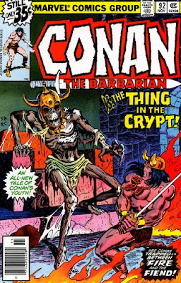 Conan the Barbarian #92, the thing in the crypt