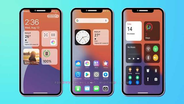 Tema IOS 14 MIUI 12 Xiaomi