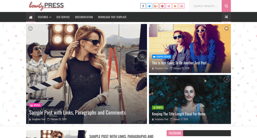 BeautyPress Stylish Blogger Template is a Multi Free Download BeautyPress Stylish Blogger Template