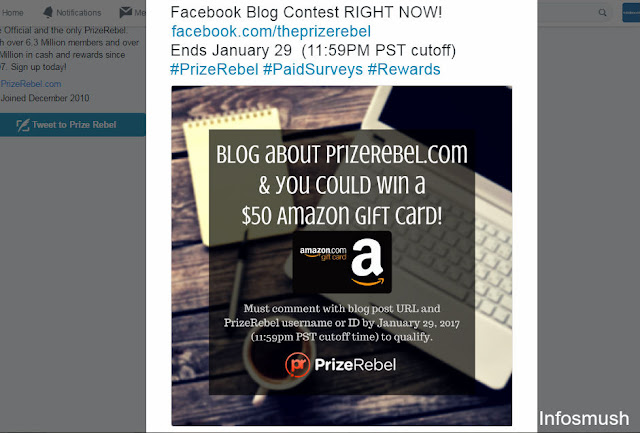Here's Your Chance to Win a $50 Amazon e-Gift Card From PrizeRebel