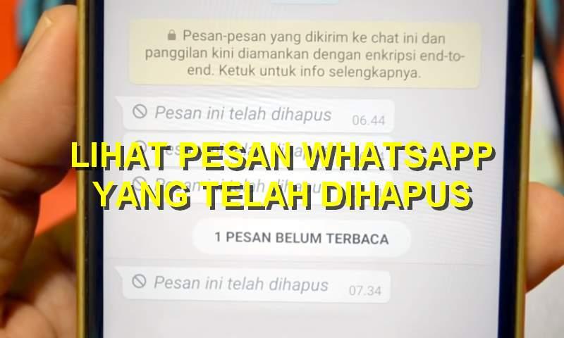 Cara Mengetahui Isi Chat WhatsApp yang Sudah Dihapus (teknolagi.net)
