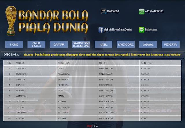 Tebakpialadunia.com    Tebak Juara Piala Dunia Berhadiah Ratusan Juta Rupiah Buruan Daftar