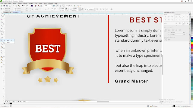 download template sertifikat coreldraw x7
