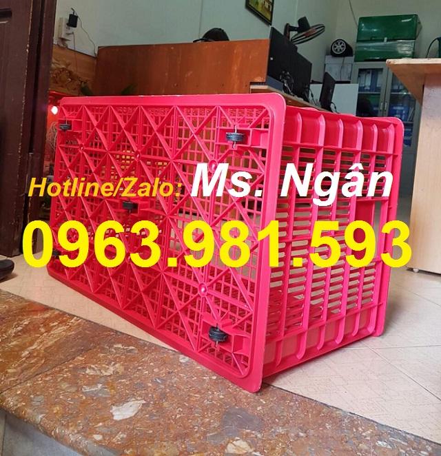 Sọt nhựa rỗng HS0199, thùng nhựa rỗng có bánh xe, sóng nhựa rỗng HS0199, sọt nhựa 5 bánh giá rẻ