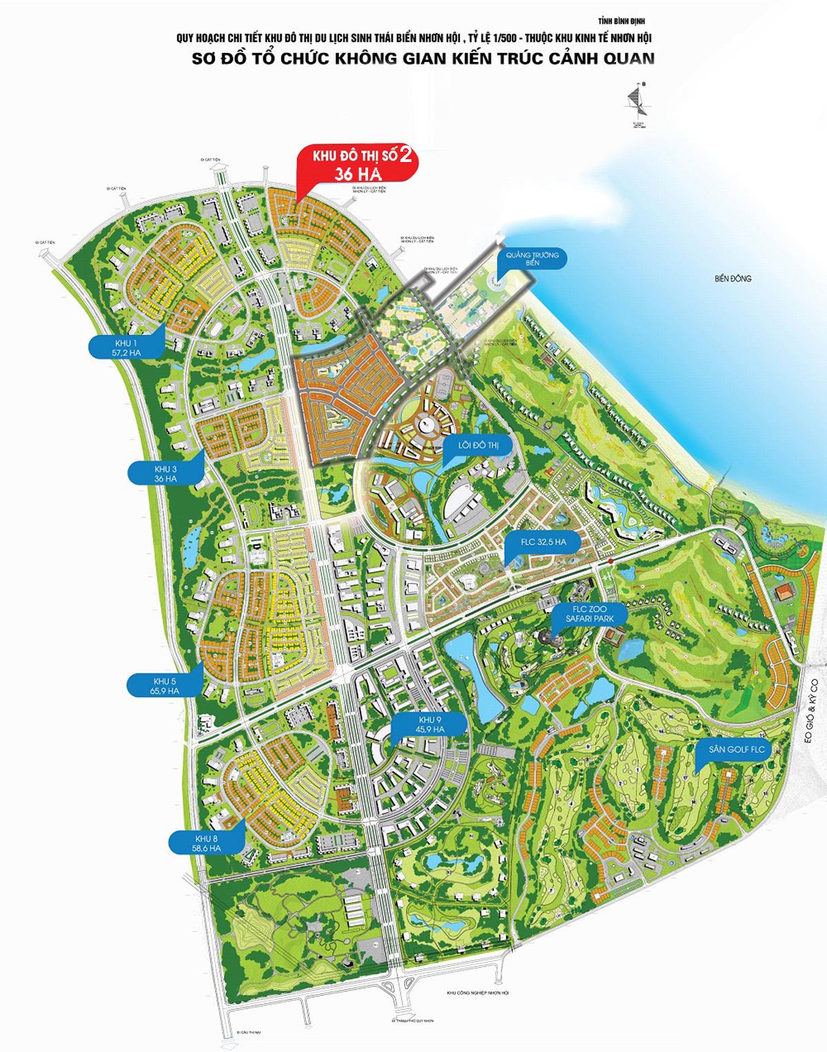 Bản đồ vị trí NHƠN HỘI NEW CITY