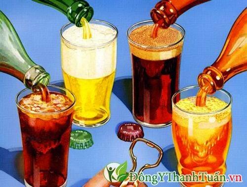 Người bệnh đau dạ dày không nên uống đồ uống có ga