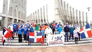 Dirección deportes en San Cristóbal congrega atletas y dirigentes en Parada Cívica con motivo Dia del Deporte.