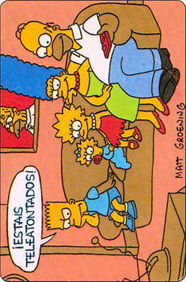 Bollycao The Simpsons Cromo 17