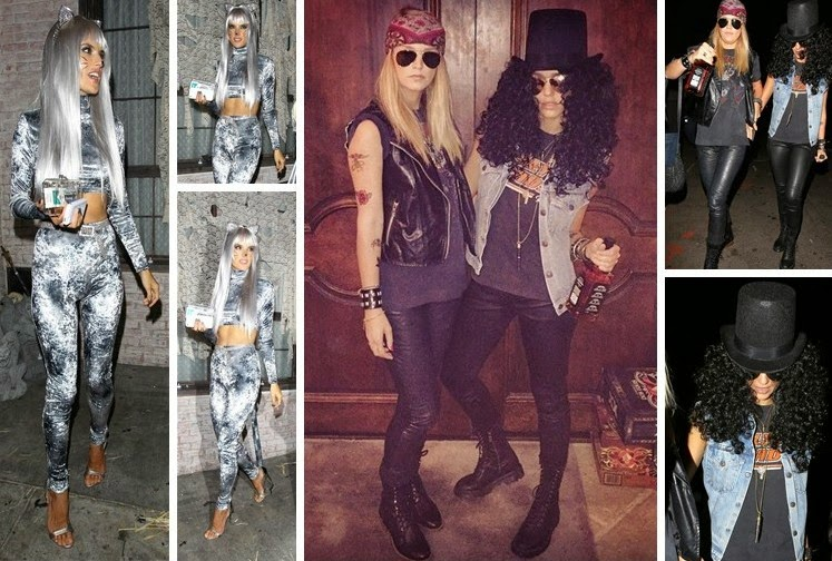 Adam Levine goes shirtless with his wife Behati Prinsloo.  Tommy Lee and Heather Locklear ready for the 80s again  Bee write on Instagram. & Somewhere I Belong: Celebrities in Halloween Costumes 2014