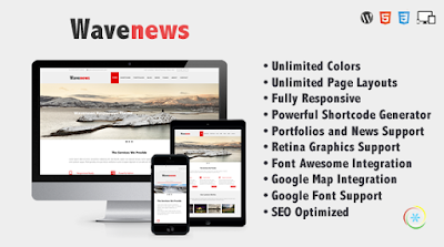 Free Download WaveNews Responsive Multipurpose Creative WP Theme