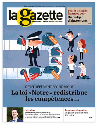 Clod illustration Gazette des Communes du 16 octobre 2016, Loi Notre