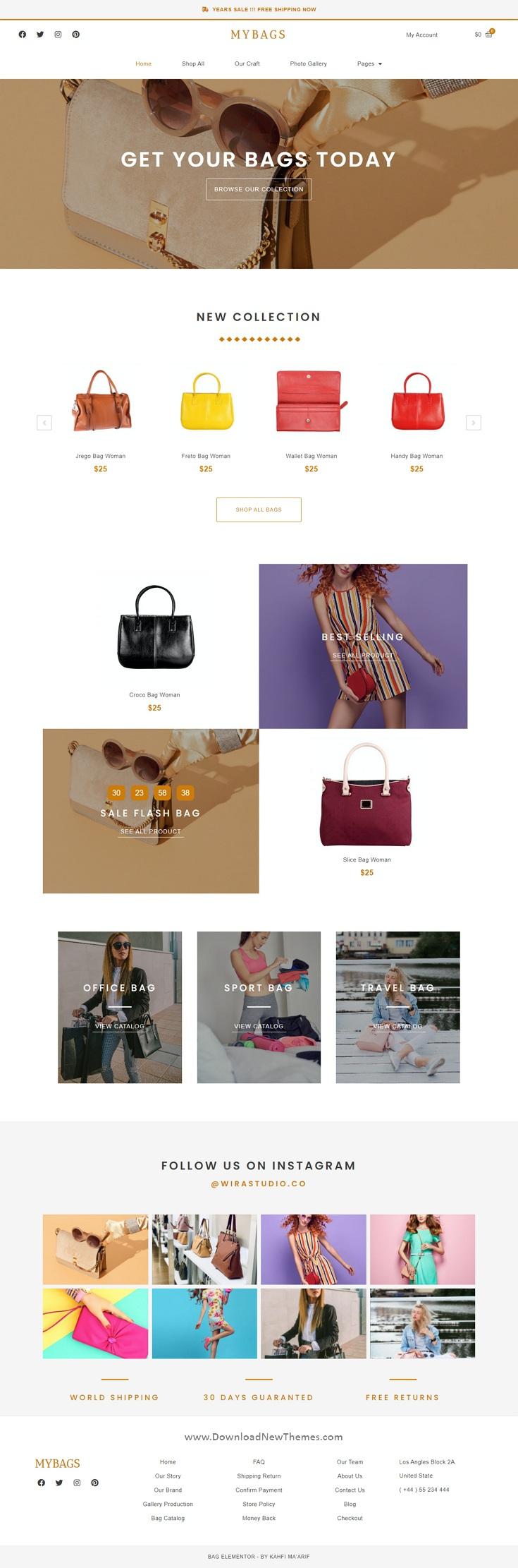 Modern Commerce Elementor Template Kit